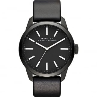 Gents Black Leather Strap Dillon Watch