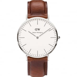 Gent's Brown Leather St Mawes 40mm Watch