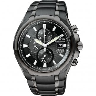 Gents Black PVD Titanium Bracelet Chronograph Watch CA0265-59E
