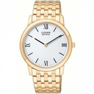 Gents Eco-Drive Gold Plated Stiletto Watch AR1123-51A