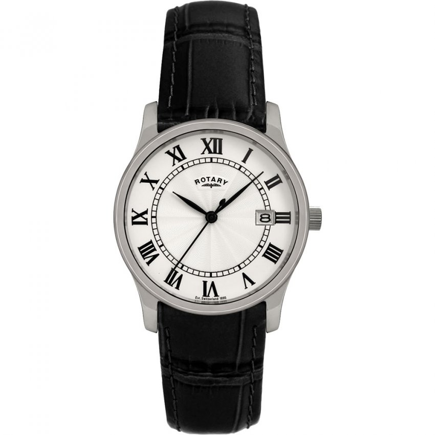 Rotary Gent's Classic Leather Strap Quartz Watch