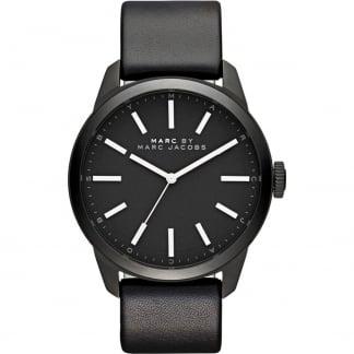 Gents Black Leather Strap Dillon Watch MBM5092