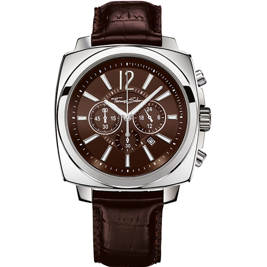 Thomas Sabo Gent's Rebel At Heart Leather Chronograph ...