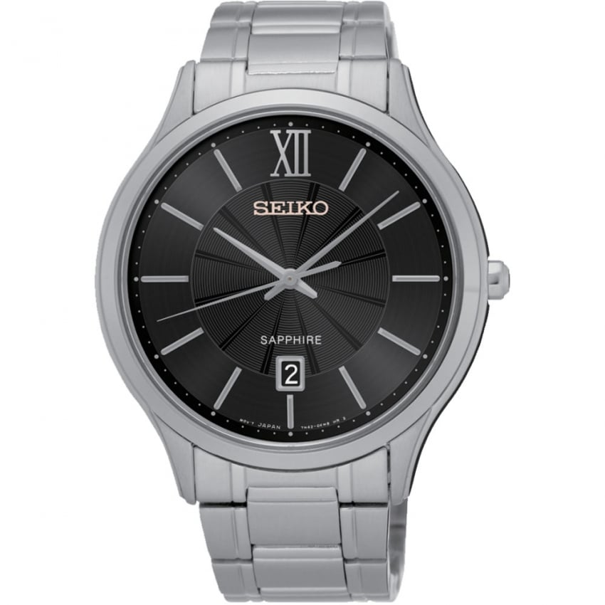 Seiko Gent's Sapphire Glass Bracelet Watch With Date SGEH53P1