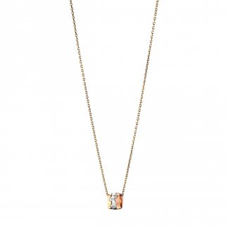 3-Colour 18ct Gold Diamond Fusion Pendant