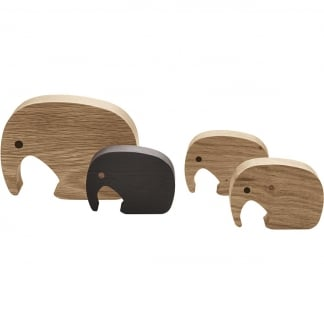 Children's ELEPHANT Figurine 4pcs Set