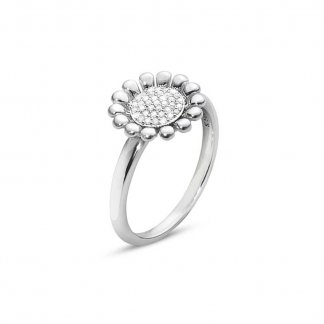 Diamond Pave Set Sunflower Ring (Size N) 3560387