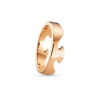 Fusion End Ring In 18ct Rose Gold (Size N)