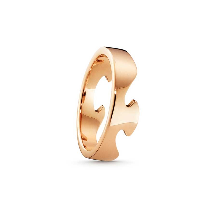 Georg Jensen Fusion Rose Gold End Ring - Size 53 3541706