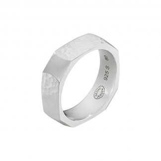 Gent's Sterling Silver Smithy Ring (Size S) 3560066