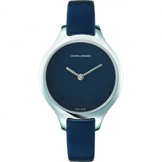 Ladies Concave 30mm Nordic Night Leather Watch
