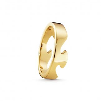 Gent's Fusion End Ring In 18ct Yellow-Gold (Size S) 3541694