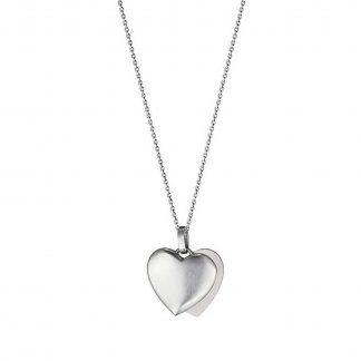 Sterling Silver Split Heart Pendant 3536361