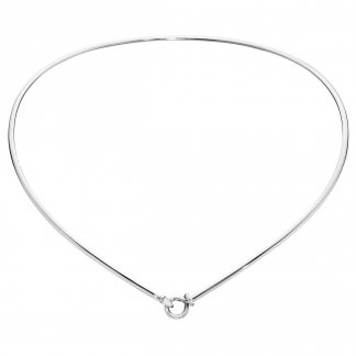 Silver Dew Drop Neckring