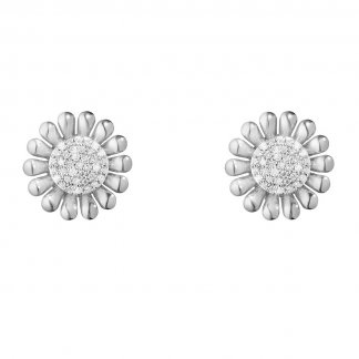 Sunflower Diamond Stud Earrings