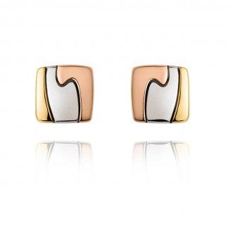 Tri-Colour Gold Fusion Stud Earrings 3519771