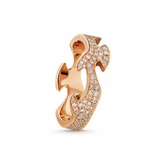 Diamond Set Fusion Centre Ring In 18ct Rose Gold (Size N) 3572128