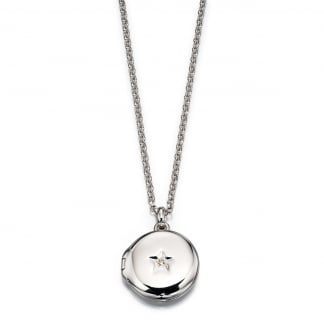 Girl's Adriana Diamond Set Locket