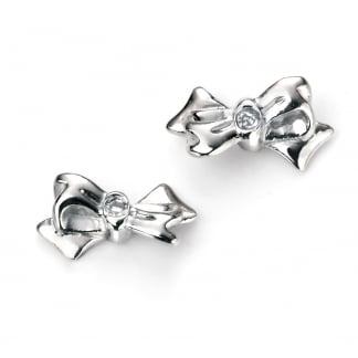 Girl's Bow Stud Earrings