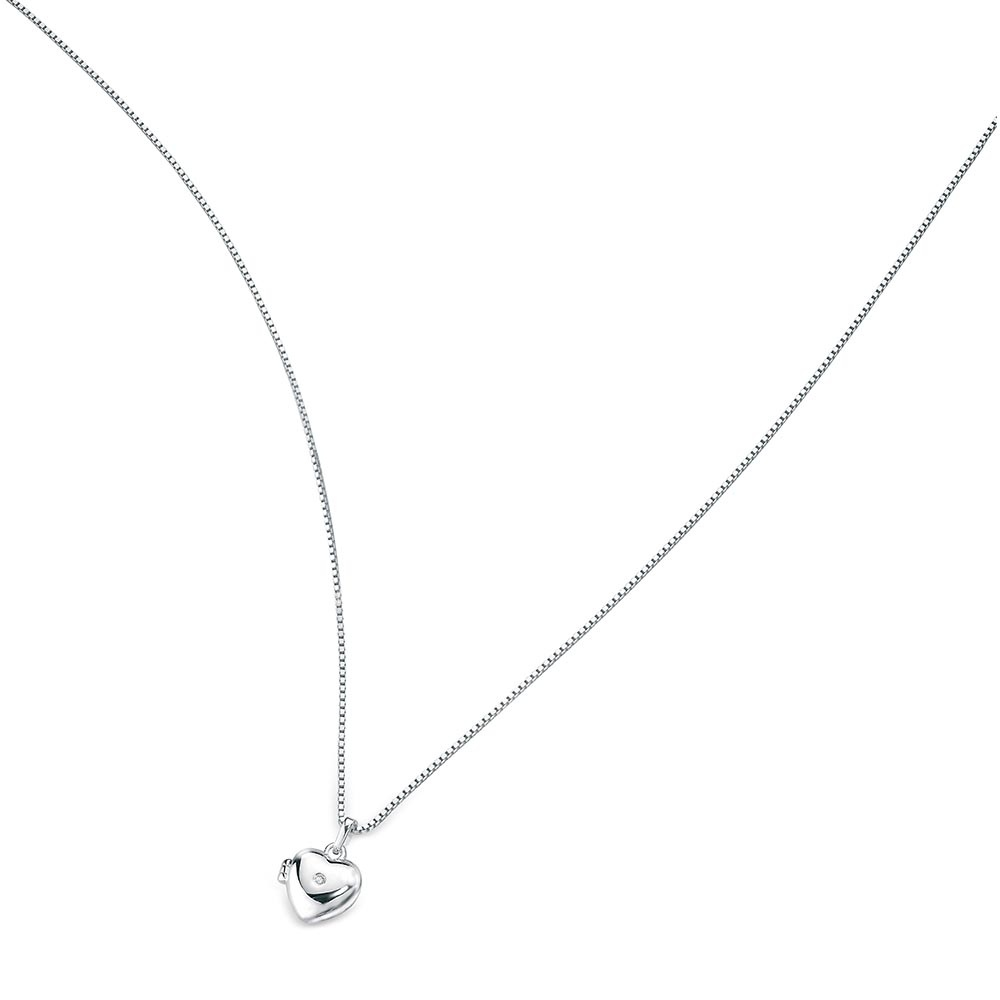 a2e8dc0c1cccb6 D For Diamond Girl's Medium Heart Locket & 14