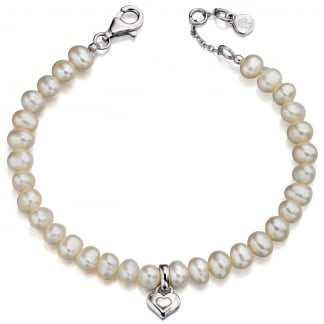 Girl's Pearl with Heart Marni Bracelet