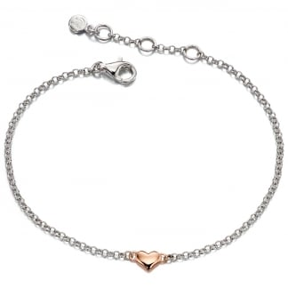 Girl's Two Tone Georgiana Mini Heart Bracelet