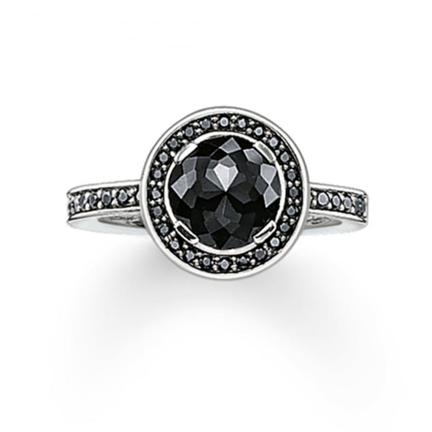 Thomas Sabo Glam and Soul Black Cubic Zirconia Ring TR1971-051-11