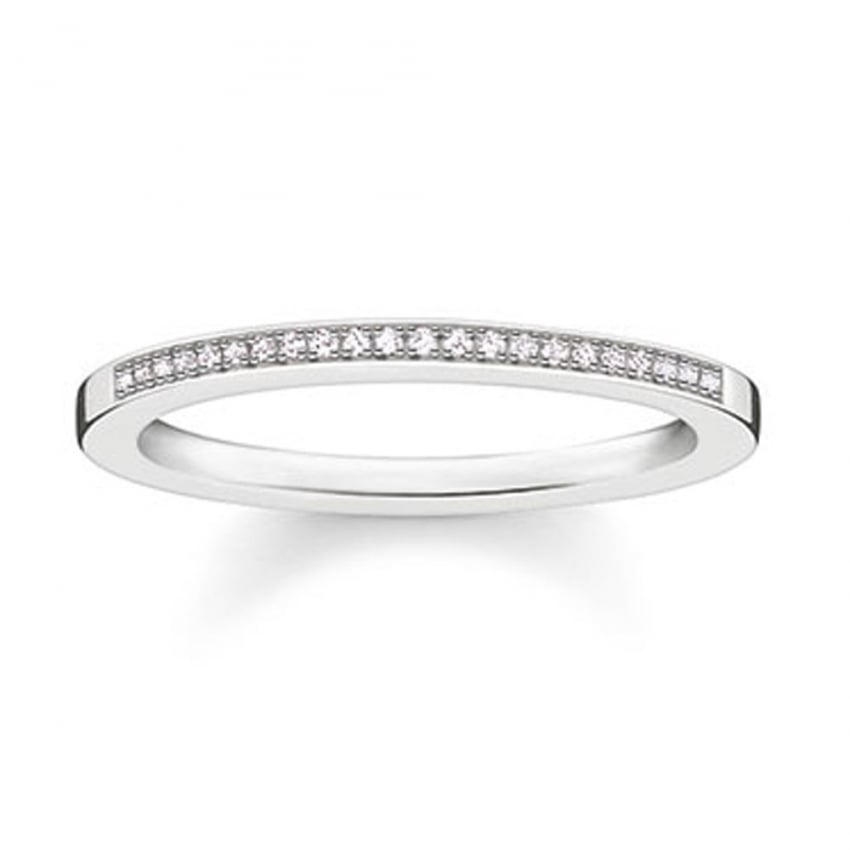 Thomas Sabo Glam and Soul Diamond Half Eternity Band D_TR0006-725-14