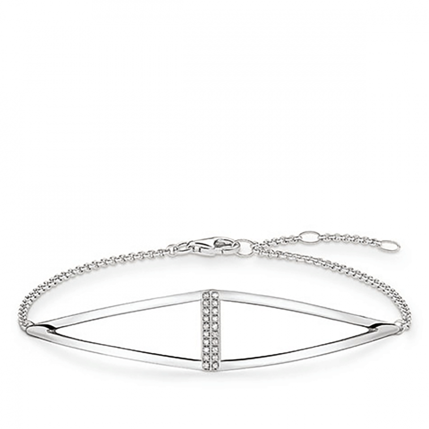 Thomas Sabo Glam and Soul Diamond Open Triangle Bracelet D_A0010-725-14-L19,5v