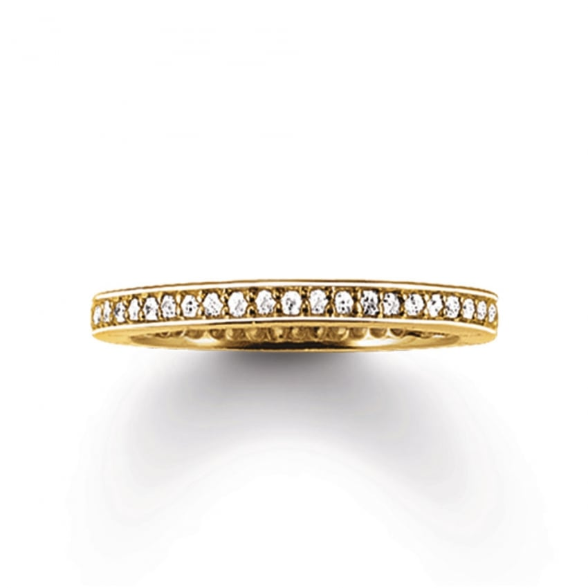 Thomas Sabo Glam and Soul Gold Eternity Ring TR1983-414-14
