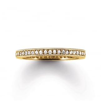 Glam and Soul Gold Eternity Ring