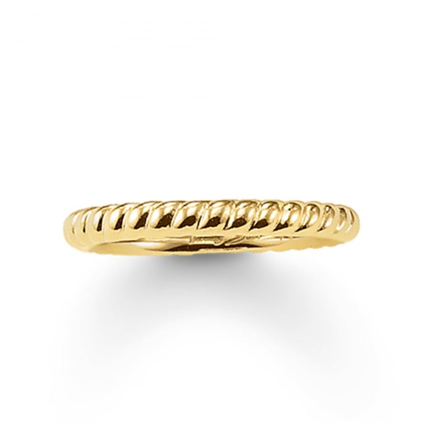 Thomas Sabo Glam and Soul Gold Rope Ring TR1978-413-12