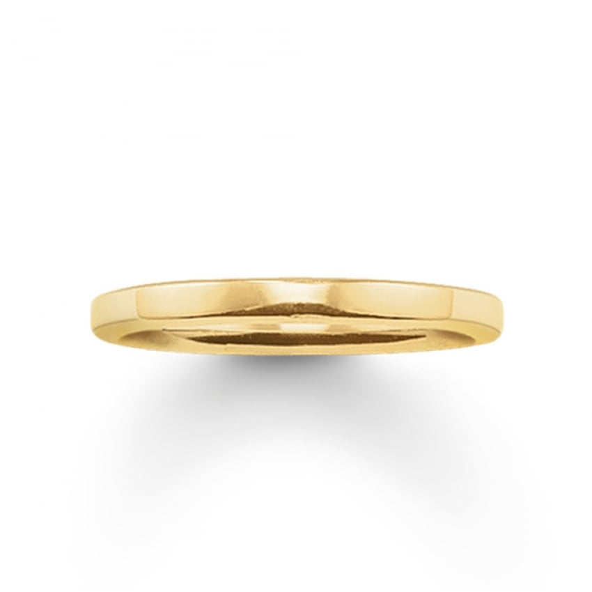 Thomas Sabo Glam and Soul Plain Gold Ring TR1979-413-12