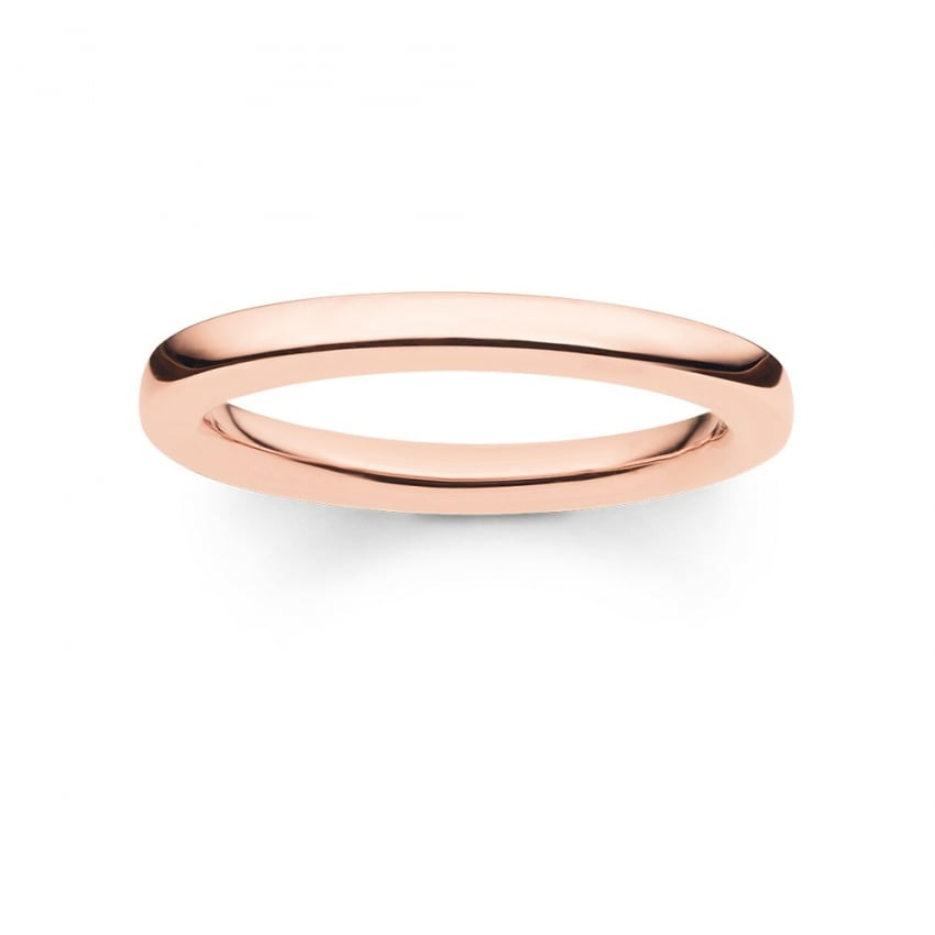 Thomas Sabo Glam and Soul Plain Rose Gold Ring TR1979-415-12