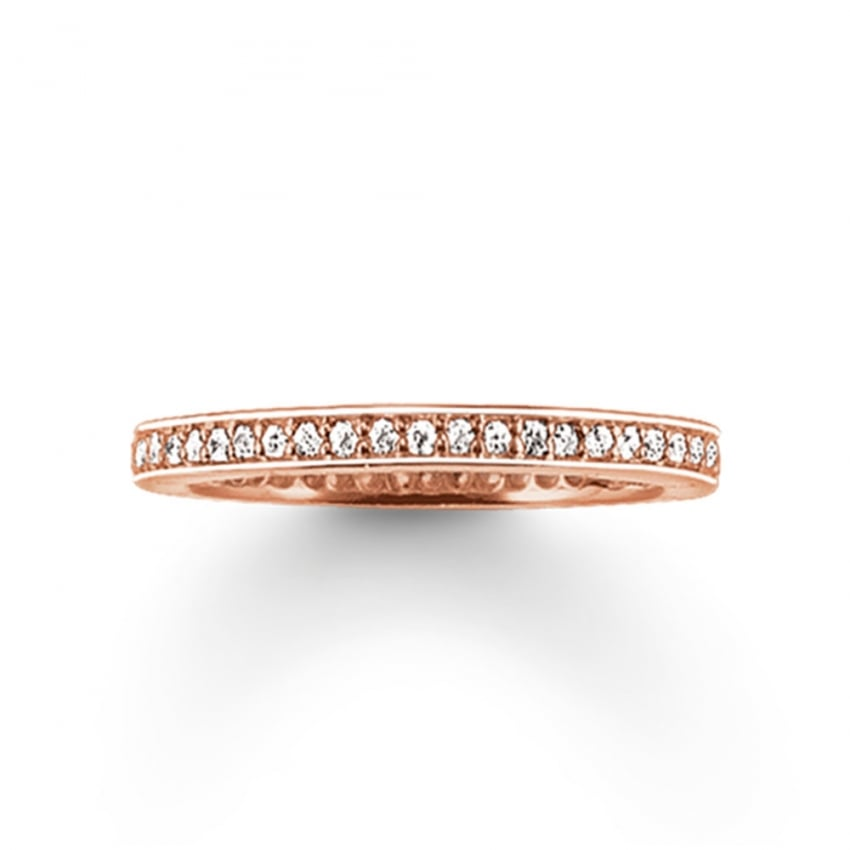 Thomas Sabo Glam and Soul Rose Gold Eternity Ring TR1983-416-14