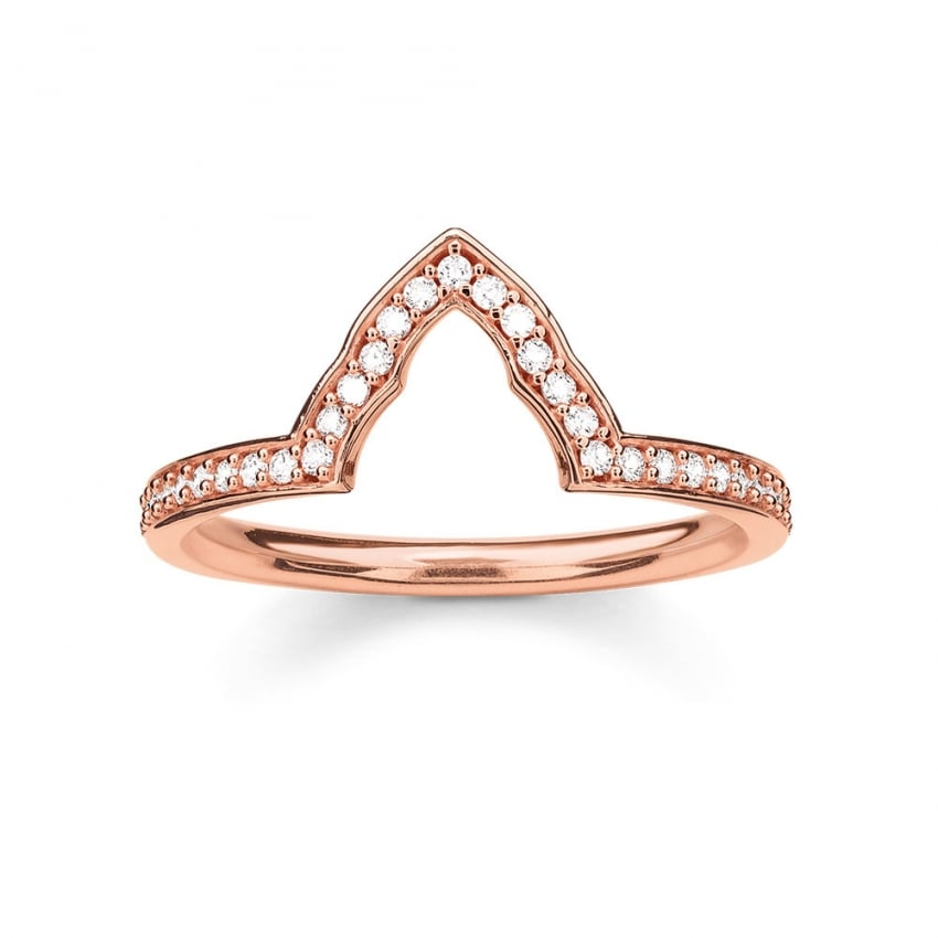 Thomas Sabo Glam and Soul Rose Gold Shaped Stacking Ring TR2070-416-14