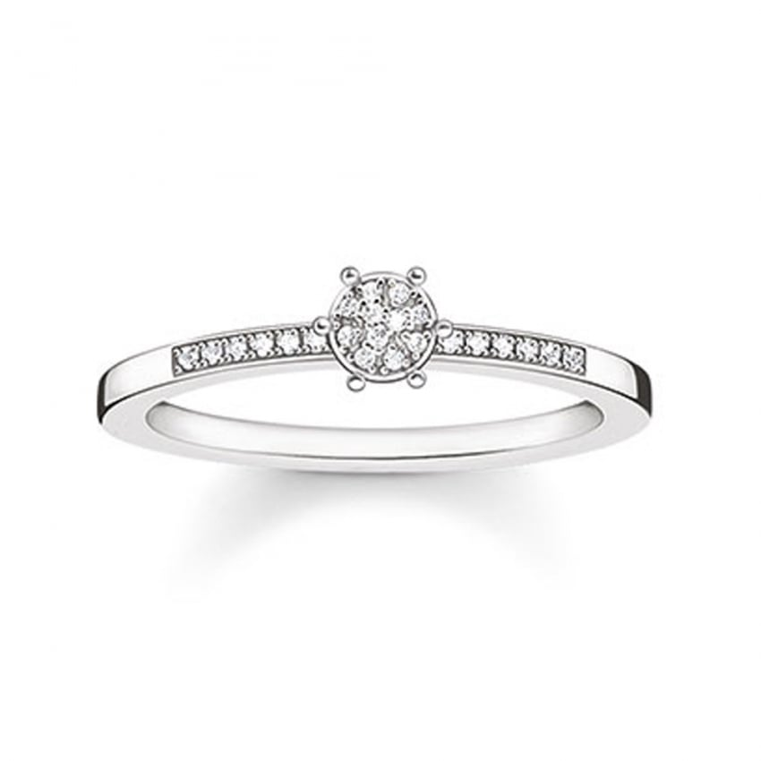 Thomas Sabo Glam and Soul Sparkling Circles Diamond Ring D_TR0022-725-14