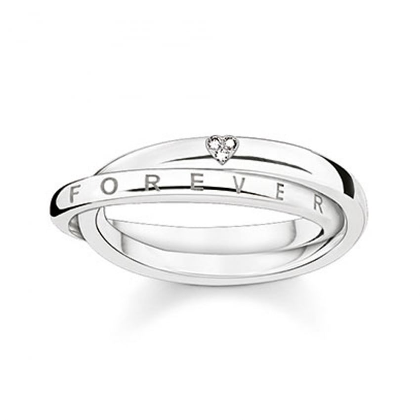 Thomas Sabo Glam and Soul Together Forever Diamond Set Ring D_TR0017-725-14