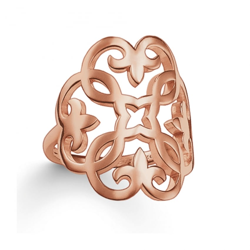 Thomas Sabo Glam and Sould Rose Gold Ornate Ring TR1988-415-12