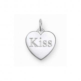 Glam & Soul 'Kiss' Heart Pendant PE437-001-12