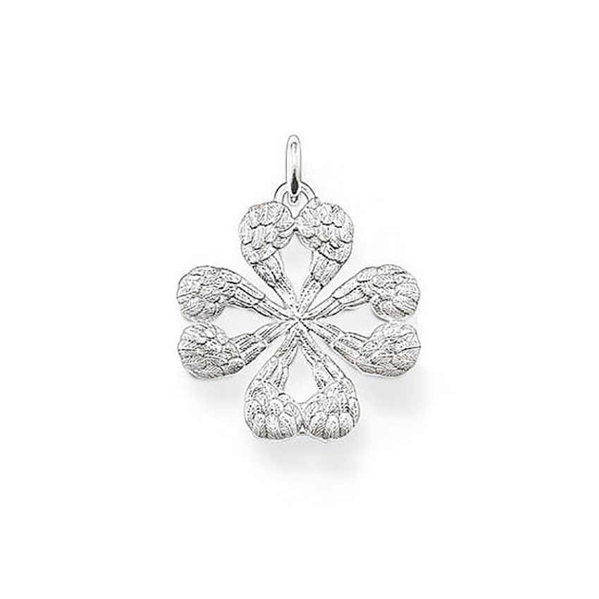 Thomas Sabo Glam & Soul Small Winged Heart Clover Pendant PE476-001-12