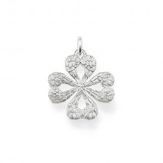 Glam & Soul Small Winged Heart Clover Pendant PE476-001-12