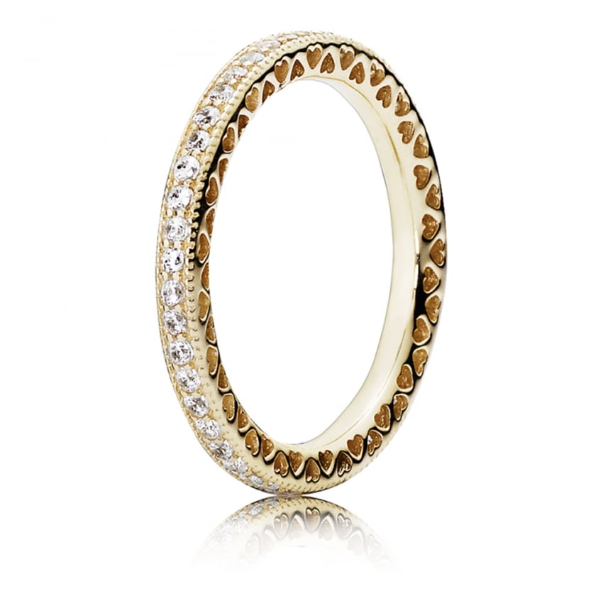 PANDORA Gold Hearts of Ring 150181CZ