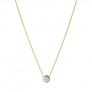 Gold Pave Diamond Essentials Necklace 5020.2725