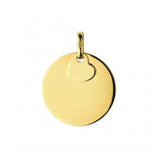 Gold Plated Large Disc Charm 5030.2307
