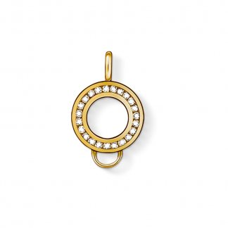 Gold Plated Crystal Charm Carrier X0185-414-14