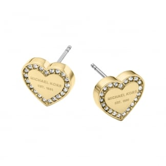 Gold Plated Heart Heritage Earrings
