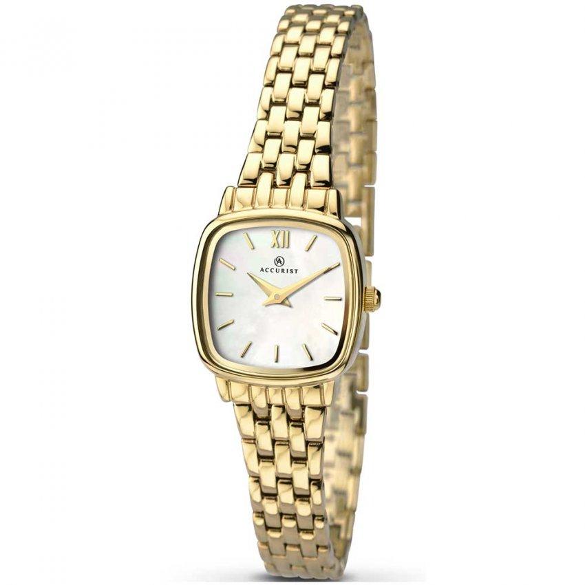 Accurist Ladies Gold Tone Classic Quartz Watch 8068