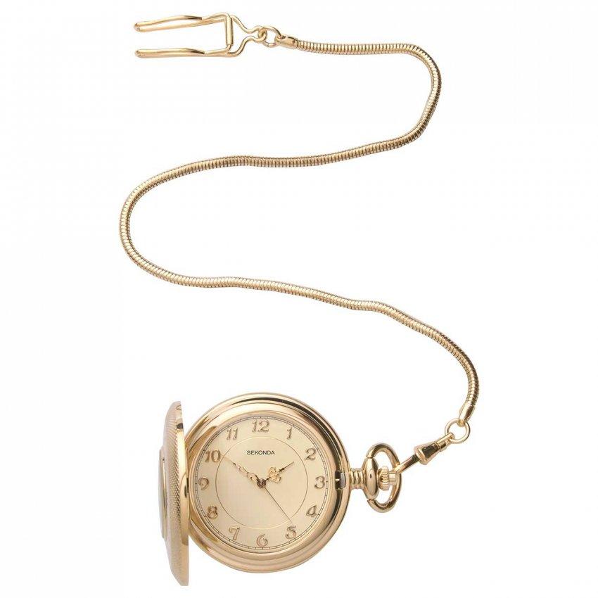 Sekonda Gold Plated Half Hunter Pocket Watch 3469
