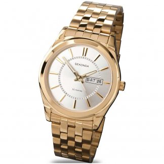 Gold Plated Traditional Men's Day/Date Watch